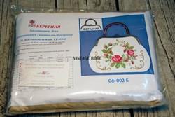 Набор для изготовления сумки Розы на белом - фото 11496