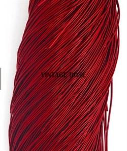 Канитель мягкая, 1 мм, Темно Красная - фото 11580