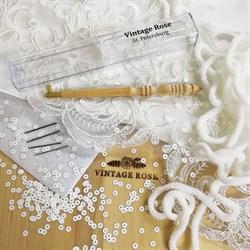Люневильский крючок с 4-мя иглами бренда Vintage Rose Шахматы - фото 13741