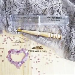 Люневильский крючок с 4-мя иглами бренда Vintage Rose Шахматы, ванильный цвет - фото 13743