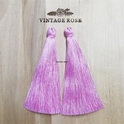 Вискозные кисточки для сережек 10 см, Розовые - фото 13885