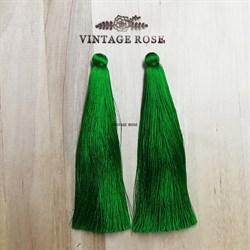 Вискозные кисточки для сережек 10 см, Зеленые - фото 13894