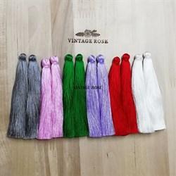 Вискозные кисточки для сережек 10 см, Сиреневые - фото 13898