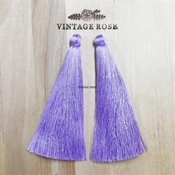 Вискозные кисточки для сережек 10 см, Сиреневые - фото 13900