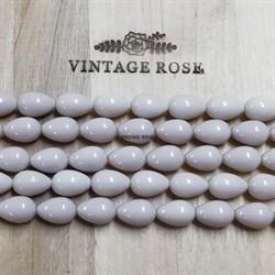 Майорка бусины капли розовые матовые 14*10 мм - фото 13943