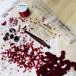 """Люневильский крючок с 4-мя иглами бренда Vintage Rose """"БОРДО"""" - фото 14360"""
