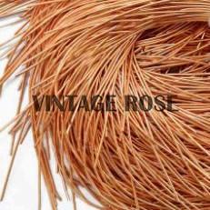 Канитель мягкая, 1 мм, Ярко-оранжевый глянцевый, 130 см - фото 14655