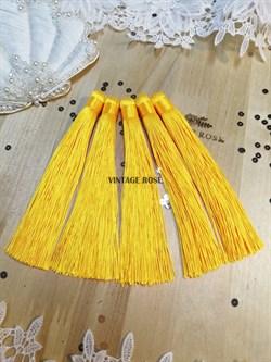 Вискозные кисточки для сережек 12 см, желтые - фото 14662