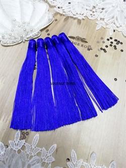 Вискозные кисточки для сережек 12 см, синие - фото 14668