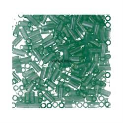 Стеклярус TOHO Bugle3 №144, 9мм, светло-зеленый полупрозрачный, 5г - фото 14821