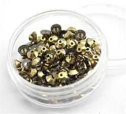 Пайетки хрустальные 4 мм золото - фото 14917