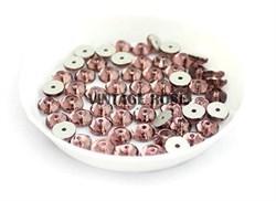 Пайетки хрустальные 4 мм винный - фото 14924