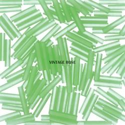 Стеклярус TOHO Bugle4 №144F, 9мм, Светло-зеленый матовый, 5г - фото 15086