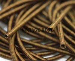 Канитель мягкая, 3 мм, бронза - фото 15186