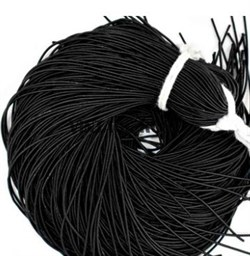Канитель мягкая, 1 мм, черная матовая - фото 15244