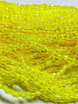 Винтажный граненый бисер желтый радужный размер 10, 10 нитей - фото 15297