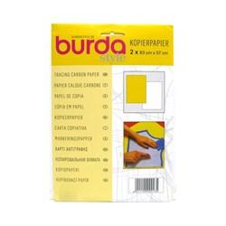 Копировальная Бумага для перевода рисунка на ткань Burda 2 листа (белый/жёлтый) - фото 15825