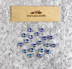 Стразы Премиум риволи в ювелирных кастах, 10 мм, Фиолетовый АВ, 2 шт - фото 16109