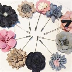 Булавка для броши с перфорированным диском 12 мм, шляпная булавка. Цвет: розовое золото. 60 мм. - фото 16180