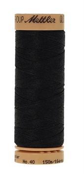 Нитка для Люневильской вышивки вощеная METTLER EXTRA STARK Чёрная 150 метров - фото 16191
