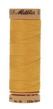 Нитка для Люневильской вышивки вощеная METTLER EXTRA STARK Жёлтая 150 метров - фото 16193