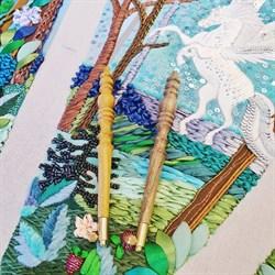 Люневильский крючок с 4-мя иглами бренда Vintage Rose Орех и Груша- Эксклюзив! - фото 17805