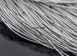 Канитель мягкая, 1 мм, серебро - фото 7767