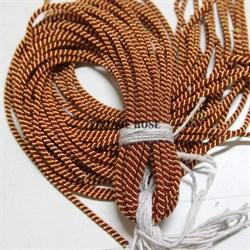 Канительный шнур, 4 мм, золото и рубин - фото 7808