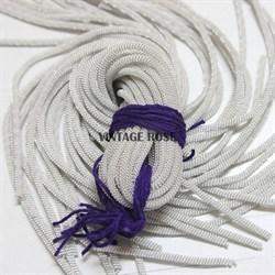 Канительный шнур, 4 мм, Серебро - фото 7818