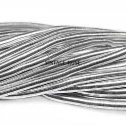 Канитель мягкая, 3 мм, серебро - фото 7820