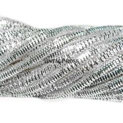 Граненный трунцал, 3 мм, Серебро - фото 8169