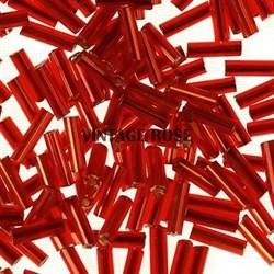 Бисер стеклярус АСТРА 5 мм непрозрачный/цветной красный (25), 20г - фото 8264