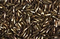 Бисер стеклярус АСТРА 5мм непрозрачный/крученый коричневый (М-222Т), 20г
