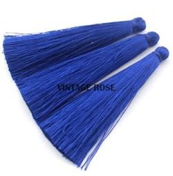 Вискозные кисточки для сережек 7 см, Синие - фото 8468