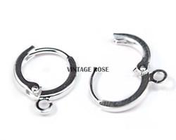 Швензы для сережек, колечки, с серебряным покрытием 925 пробы - фото 9099