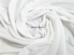 Шелковый бархат, цвет молочный (Франция) - фото 9305