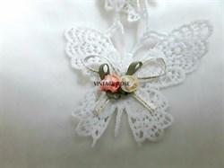 Кружевные бабочки, хлопок - фото 9317