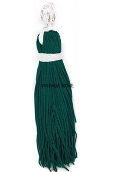 Канительный шнур, 3 мм,  темно зеленый - фото 9884