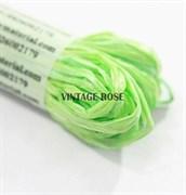 Рафия для вышивки, Зеленая матовая, 5 мм ширина. Индия