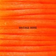 Шнур атласный, 1 мм. Оранжевый Неон