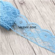 Кружево Индира, 5,5 см ширина, голубое