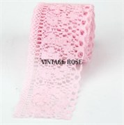 Кружево Анна, 3,5 см ширина, розовое
