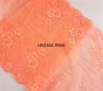 Кружево эластичное с фестоном, 21.5 см ширина, Оранж
