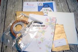 Набор для изготовления сумки Розы на белом - фото 11495