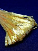 Рафия для вышивки, Желтая с блеском, 5 мм ширина. Индия