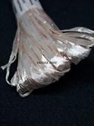 Рафия для вышивки, Персиковая с блеском, 5 мм ширина. Индия