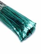 Рафия для вышивки, Светло Голубая с Блеском 5 мм ширина. Индия