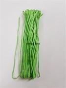 Рафия для вышивки, зеленая с блеском 5 мм ширина. Индия