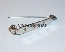 Булавка для броши с 3-мя отверстиями, 32 мм, с серебряным покрытием