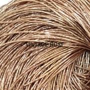 Граненный трунцал, 1 мм,  Розовое темное золото 1099